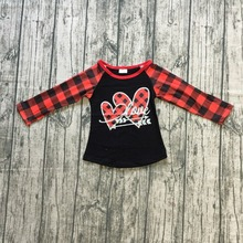 baby girls raglan tops V-day raglan girls BE MINE raglans truck send hearts girls