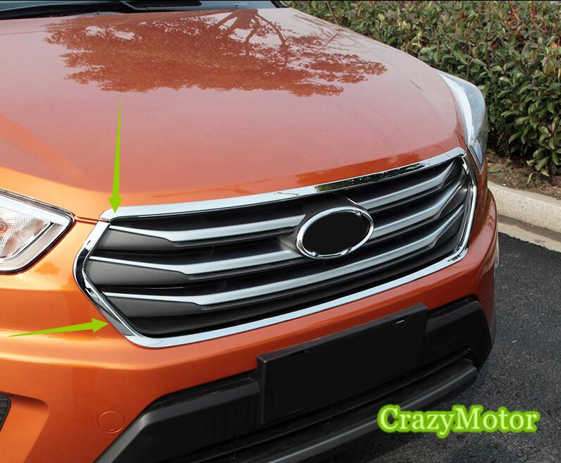 For Hyundai Creta ix25 2014 2015 2016 Front air vent cover trim Decorative Cover Frame Accessories Car Stying коврики в салонные ниши синие ix25 для hyundai creta 2016