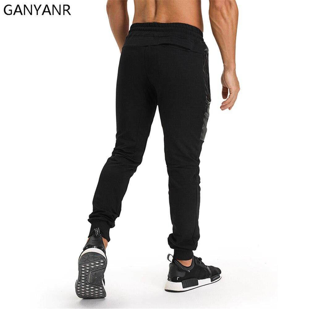 GANYANR Running Pants Men Basketball Jogging Sport Leggings Training Gym Athletic Football Sweatpants Fitness Workout Elastic in Running Pants from Sports Entertainment