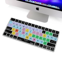 XSKN For Apple US Magic Keyboard Shortcut Final Cut Photoshop Premiere Lightroom Keyboard Cover Silicone Skin