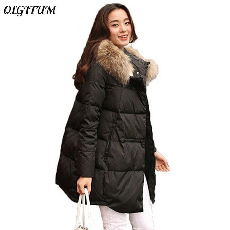 197eda8925e7 Hot 2018 New winter women Coats   Jackets Fur collar Hooded Parka Winter  solid color Down Cotton Coat Warm Cotton jacket 3XL