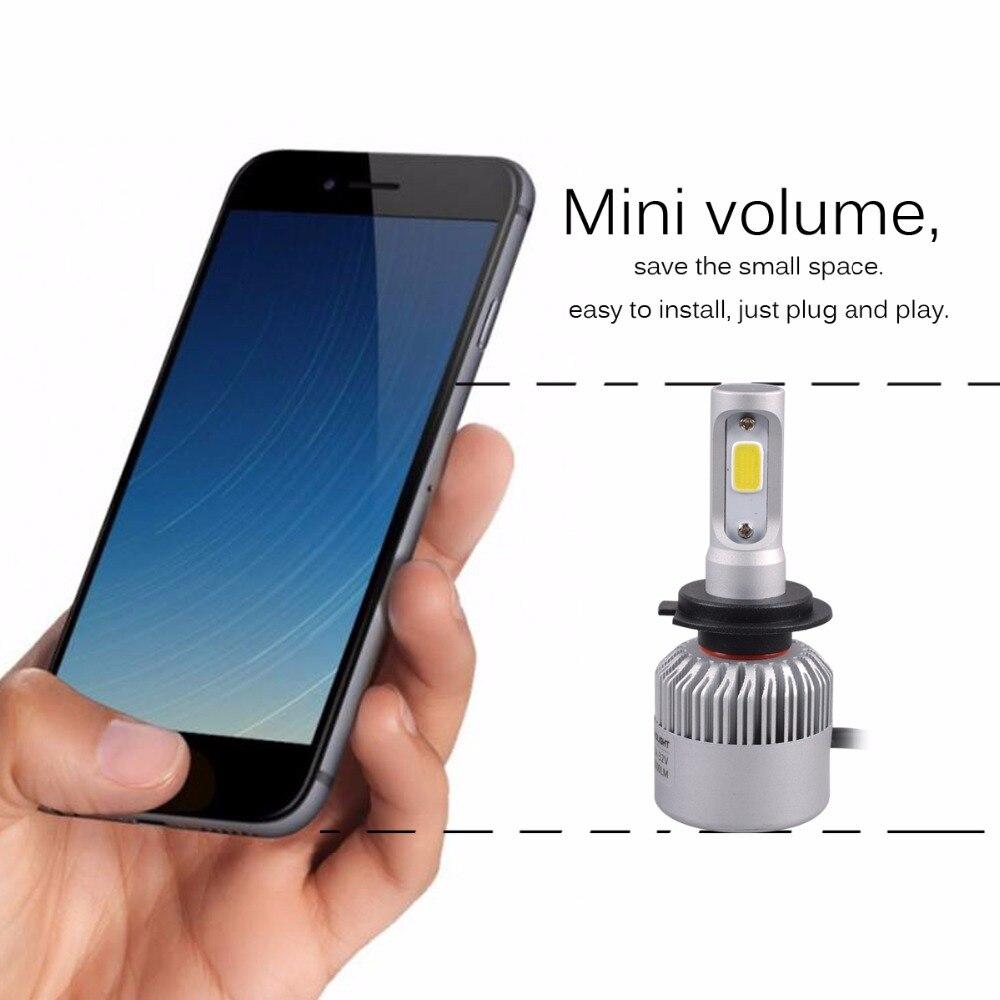 AutoEC 1set S2 42W H7 H11 9005 9006 COB LED İşıq lampaları - Avtomobil işıqları - Fotoqrafiya 3