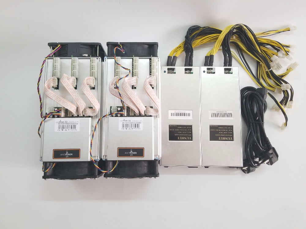 2pcs New Asic Miner <font><b>BITMAIN</b></font> <font><b>AntMiner</b></font> V9 4T/S With PSU Bitcoin Miner Btc BCH Miner Better Than S5 <font><b>S7</b></font> S9 S9i WhatsMiner M3 T9+ E9 image