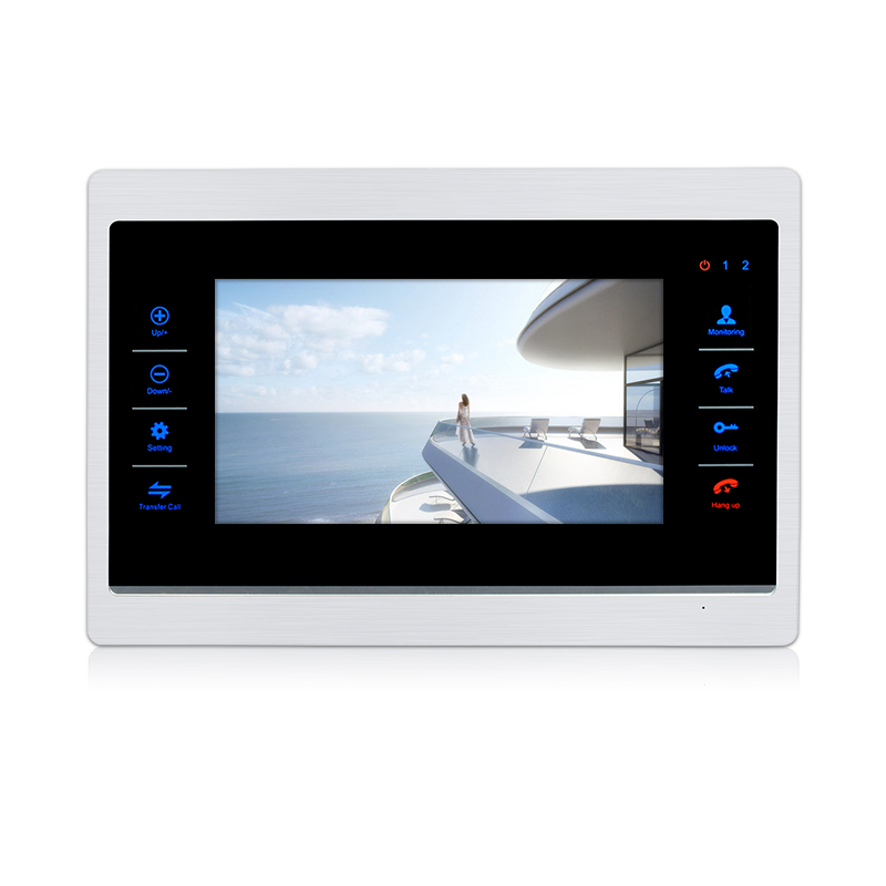 Free Shipping 720P AHD HD 7 LCD Record Monitor Touch Sensor Button Motion Detection Set Unlock