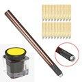 Professional 3D Tebori Eyebrow Permanent Makeup Kit 1pcs Microblade Manual Pen + 20pcs 12Pin Needles Blade + 1pcs Pigment Ink