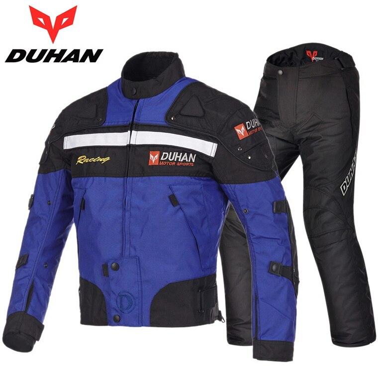 DUHAN quatre saisons moto course costume moto cycle équitation vêtements ensemble locomotive veste pantalon moto cycle vêtements avec coton denier