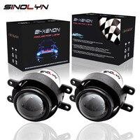 SINOLYN For Toyota Corolla Camry Yaris RX270 HID Bixenon Fog Lights Projector Lens Bifocal Driving Lamps Retrofit DIY Waterproof
