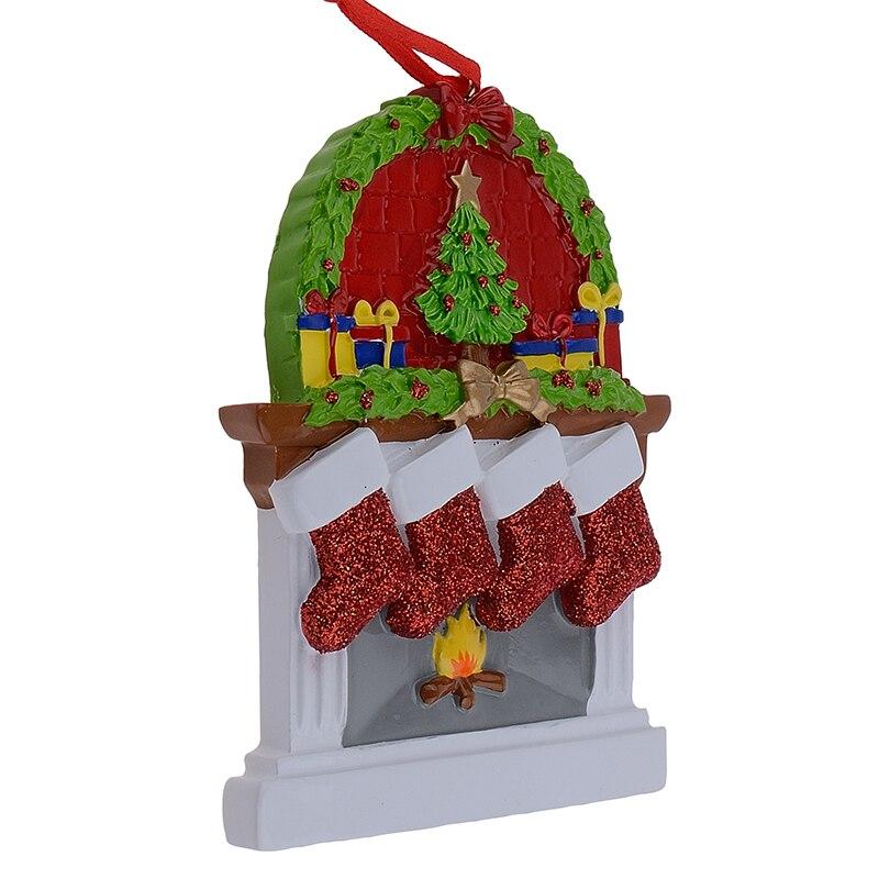 Hars Open haard Glitter Sockings Familie van 3 Kerst Ornamenten - Feestversiering en feestartikelen - Foto 5