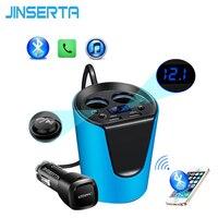 2017 Music MP3 Player Bluetooth Car Kit FM Transmitter HandsFree Cigarette Lighter Adapter Splitter 2 Ports