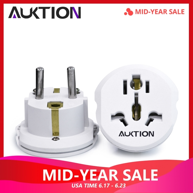 AUKTION 5Pcs/Lot 16A Universal EU(Europe) Converter Adapter 250V AC Travel Charger Wall Power Plug Socket Adapter For US UK AU