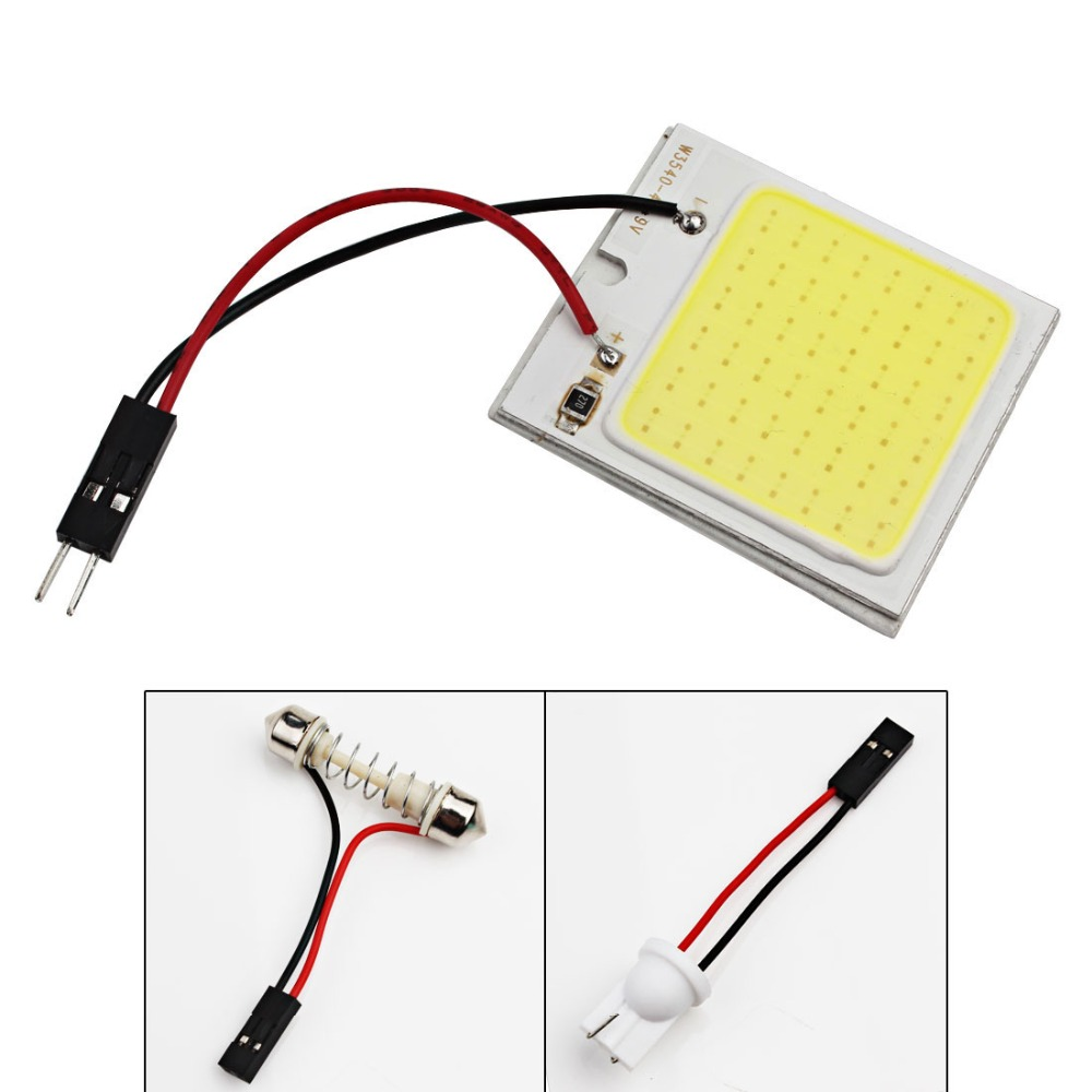 NEW White 48 SMD COB LED T10 4W 12V Car Interior Panel Light Dome Lamp Bulb Neue