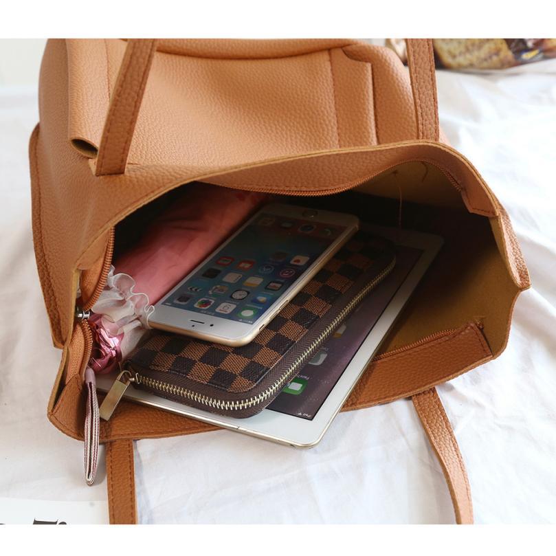 Delle Cuoio Carteira brown rosso 2018 Ragazze Regali Modo grigio set Donne Borse Nuovo 4 Una Di Bolsa colore Rosa Signore Il Borsa Spalla Nero Bag Feminina 1WaYZ7n4nt