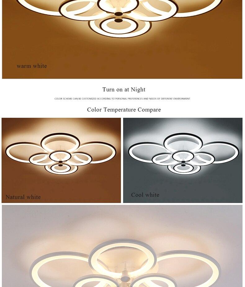 bedroom Remote lights modern 12