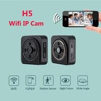 H5 Draadloze Mini Camera H.264 720 P HD Wifi IP DV Camera infrarood Nachtzicht Micro Camera Breed Engel 150 Graden Mini Camcoeder