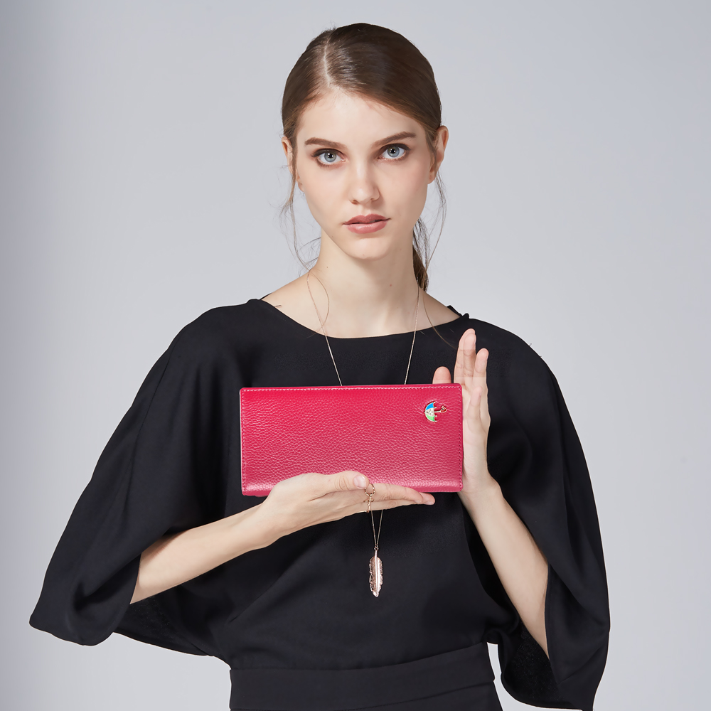 carteira de design exclusivo padrão Color : White Black Red Pink