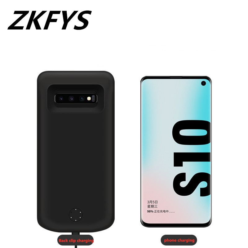 ZKFYS 6000mAh Charger Battery Cover For Samsung Galaxy S10 Plus Power Box Backup Back Clip Fast Battery Charging Case in Battery Charger Cases from Cellphones Telecommunications