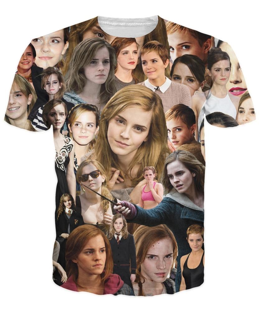 Emma Watson Paparazzi T-Shirt unique visual timeline throughout Emma Watsons successful career 3d Tees Women Men Outfits Tops