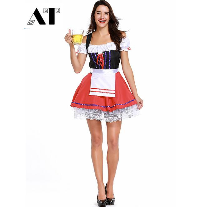 German Beer Girl Costumes Sexy Halloween Maid Costumes Women Oktoberfest Costumes Carnival Costumes Fancy Dress