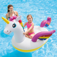 High quality Kids pool float toys Rainbow unicorn Swimming Ring Baby Inflatable Pool Float Ring Kids Pool Toy Float thick