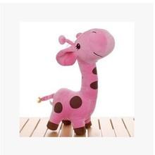 small cute cartoon spots giraffe toys lovely pink giraffe plush doll birthday gift about 25cm