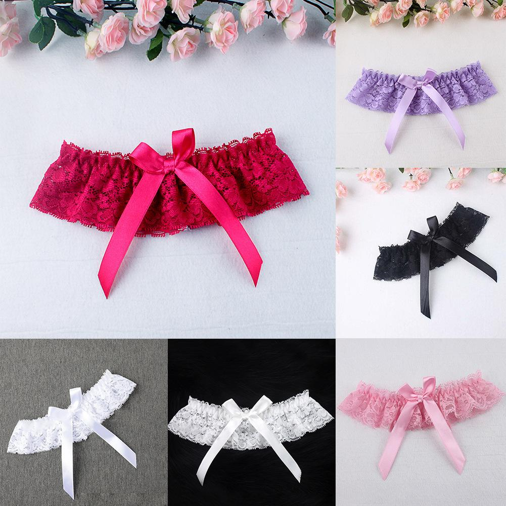 Fast Shipping 1 Pair Women's Sexy Bridal Lace Bow Garter Multi-color Seductive Sleepwear Lingerie Accessories Intimate Nightwear