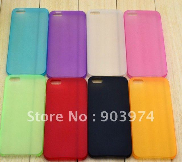 New arrival utra-thin 0.33mm TPU  Case for iphone 5, anti-glare TUP case for iphone 5 Free shipping wholesale