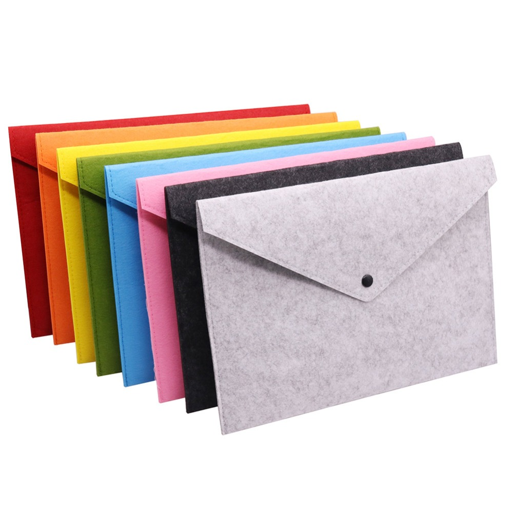 1 Pcs A4 Filing Products Document Bag Length 325mm Width 230mm Pencil Cases Folder For Documents Felt Bag Office School Supplies