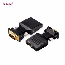 QGeeM VGA to HDMI Converter With Audio Full HD VGA to HDMI adapter with Video Output 1080P HD for PC Laptop HDMI toVGA