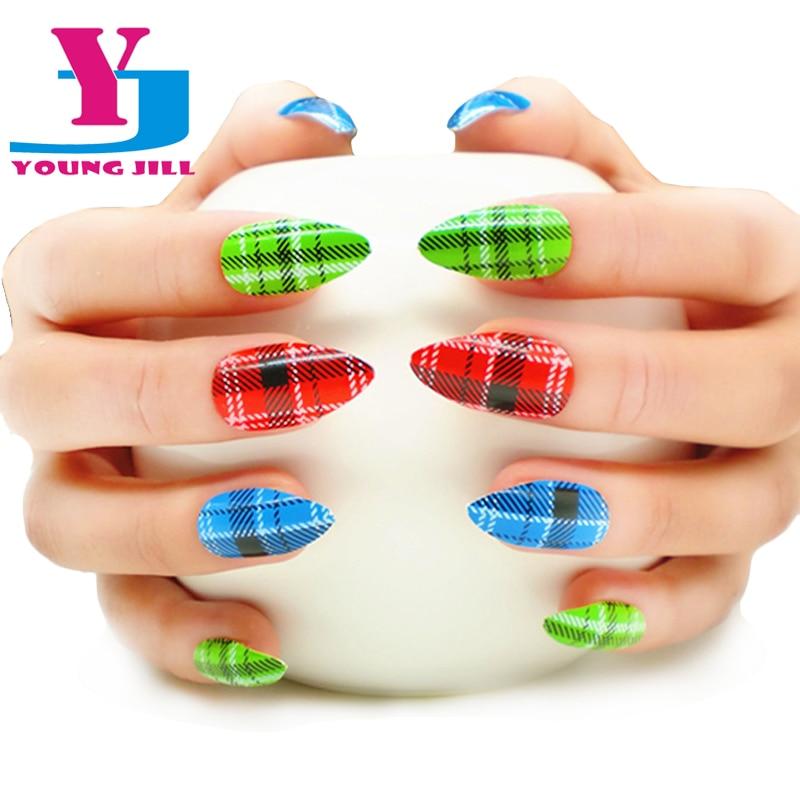 24 Unids / set Stiletto Nail Art Tips Acrílico Nuevos Estilos - Arte de uñas