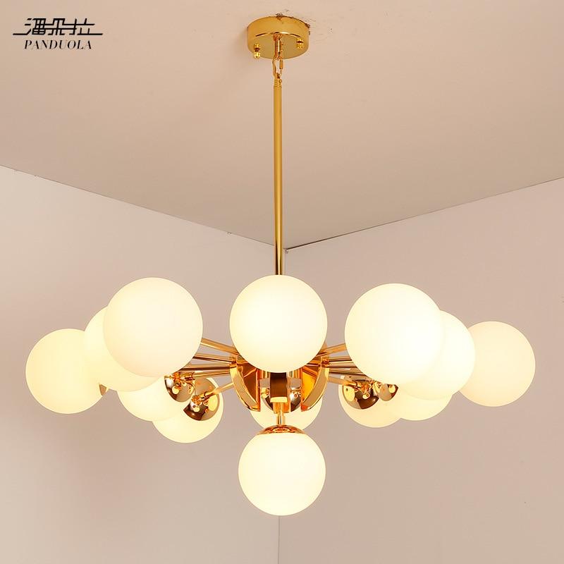 Nordic Dna Modou Beanstalk Pipe Pendant Light Install Indoor Suspension Industrial Loft Lights Glass Ball Lustre Hanging Lamp
