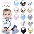 13 estilos 4 pcs um lote arrotar marca Seta animal dos desenhos animados do bebê babadores saliva toalha burp cloths triângulo bandana do algodão acessórios