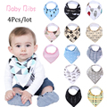 13 styles 4pcs a lot burp brand baby bibs saliva towel Arrow animal cartoon burp cloths triangle cotton bandana accessories