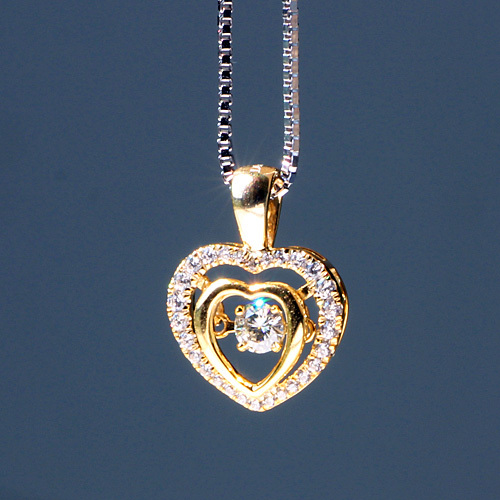 White Gold Diamond Love Heart Necklace