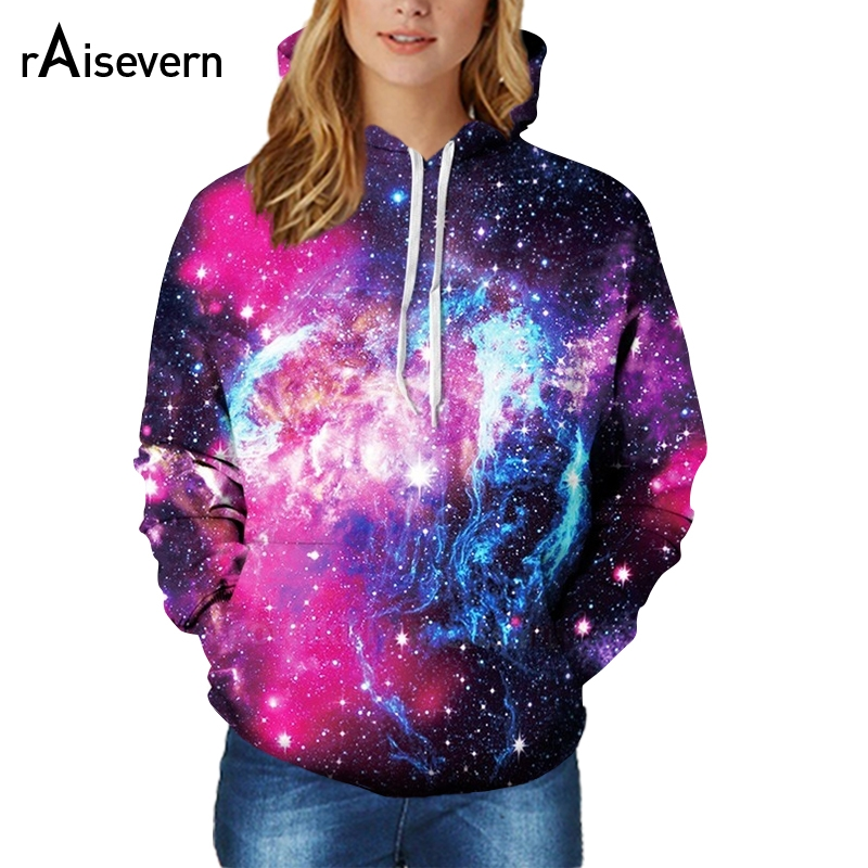 Raisevern Space Galaxy 3d Sweatshirts Men/Women Hoodies With Hat Print Stars Nebula Loose Thin Hooded Hoody Tops Dropship