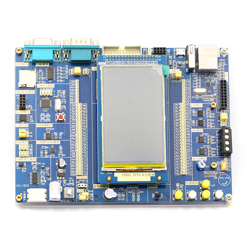 STM32 Scheda di Sistema Bordo di Centro del Bordo di Sviluppo di STM32 STM32F103ZET6 Bordo di Apprendimento Singolo Circuito Integrato del Microcomputer Doppio CPU EdizioneSTM32 Scheda di Sistema Bordo di Centro del Bordo di Sviluppo di STM32 STM32F103ZET6 Bordo di Apprendimento Singolo Circuito Integrato del Microcomputer Doppio CPU Edizione
