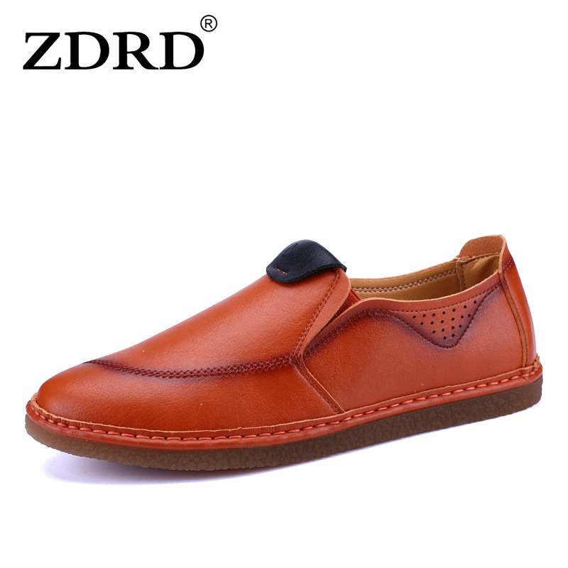 ZDRD Men High Quality Loafers Summer Driving Leather Shoes,New Moccasins Slip On Handmade Shoes,Brand Design Flats Shoes For Men hot high quality men loafers leather round toe slip on casual shoes man flats driving shoes hombre zapatos comfortable moccasins
