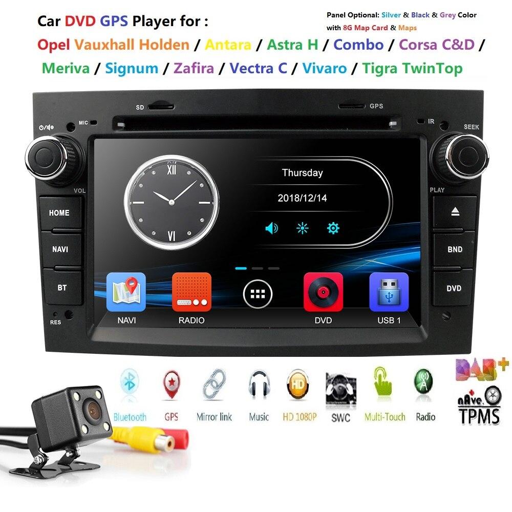 7 pouces 2 DIN voiture GPS pour opel Vauxhall Astra H G J Vectra Antara Zafira Corsa lecteur DVD voiture moniteur voiture lecteur multimédia caméra