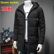 Фотография 10XL 8XL White Duck Down Long Jacket Men Thicken Warm Varsity Jacket Autumn Winter Windbreak Parka loose Fit Casual Outwear Coat