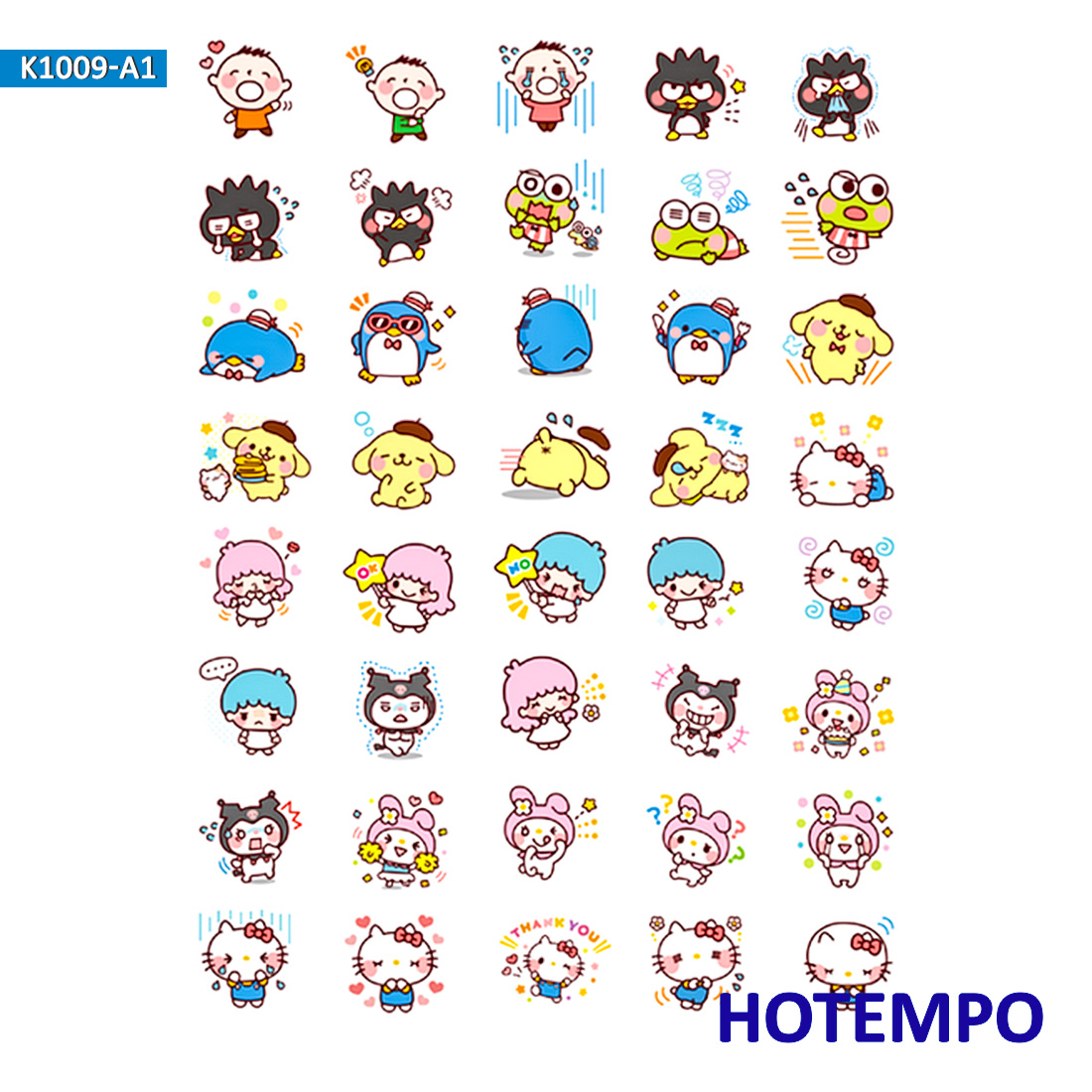 Sanrio Melody Kuromi Stickers For Girl Children Kids Gift DIY Letter Diary Scrapbooking Stationery Pegatinas  Stickers