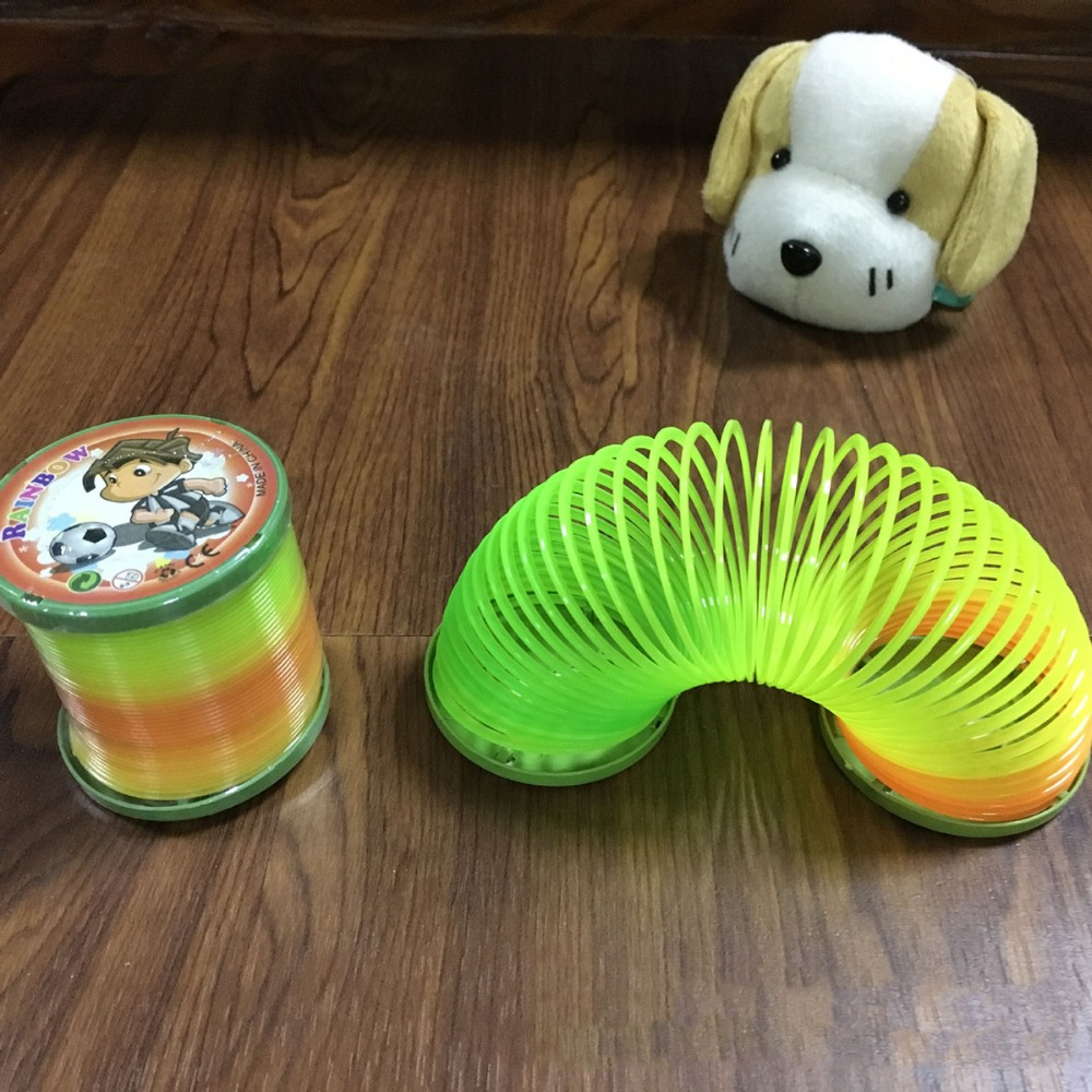 Coolplay New Large Magic Plastic Slinky Children Funny Classic Toy Kids Baby Colorful Randomly Springs Bounce Fun Toy