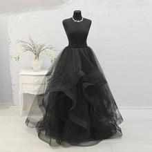 Изготовленная на заказ длина пола макси юбка пачка длинные Великолепные женские юбки Пышное Бальное платье Специальный край