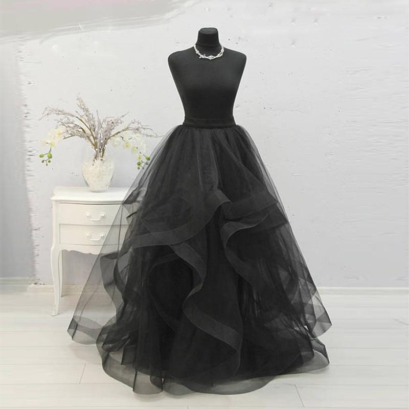 Custom Made Floor Length Maxi Skirt Tutu Long Gorgeous Women Skirts Puffy Ball Gown Special Edge