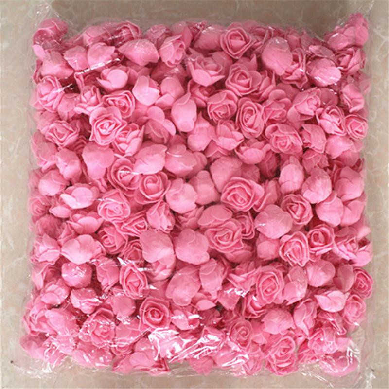 500Pcs/lot These flowers are used to decorate Flores man-made decorative roses head rose bear wedding house artificial flower