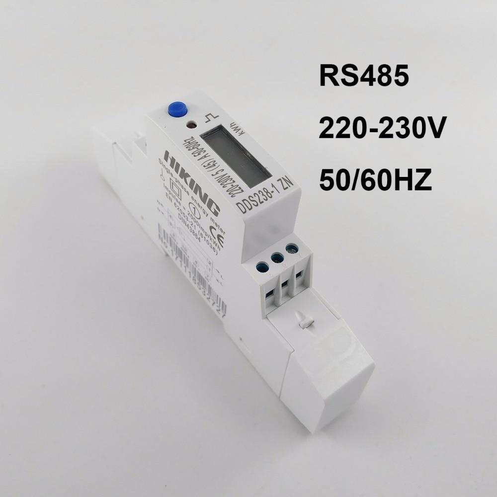 5 (45) Un 45A MAX 220 V 50 HZ tension courant monophasé rail Din KWH Watt heure compteur d'énergie avec RS485 MODBUS-RUT