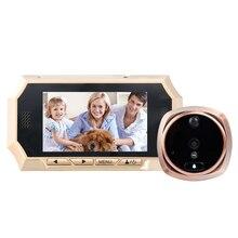4.3 «сенсорный экран видео-телефон двери домофон глазок поддержка 32 г карта домой дверной звонок 720 P hd ик-камеры free пост