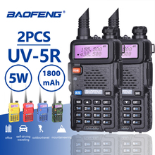 2pcs Baofeng UV-5R Hot Sale Walkie Talkie 5W Vhf Uhf Dual Band Portable Woki Toki UV5R Pofung CB Ham Radio Station UV 5R