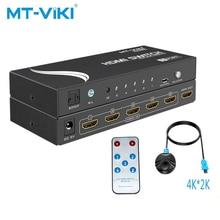 MT-VIKI 5-port HDMI switch Version 1.4, automatic infrared 4K*2K with audio separation ARC support MT-SW005 mt viki vga matrix switcher 2 in 2 matrix optional output automatic infrared rs232 control with audio mt vt212