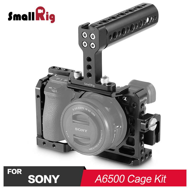 SmallRig Camera Cage Kit for Sony A6500 ILCE A6500 with Top Handle Grip HDMI Cable Clamp