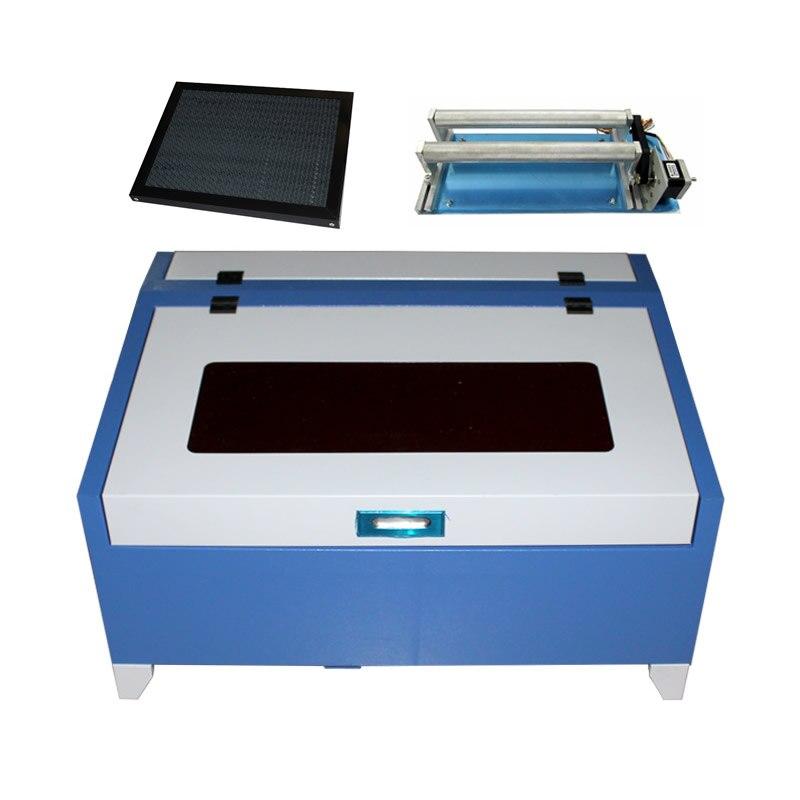 Axe rotatoire de découpeuse de laser de CO2 de 40 W CNC 3040 pour la gravure de cylindre en bois de carte PCB
