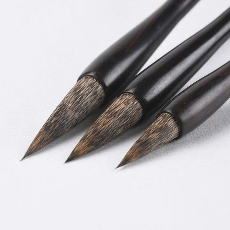 الفاخرة ماوس الطولي فرشاة مجموعة أقلام الصينية التقليدية الخط فرشاة القلم الفئران الشعر الكتابة القلم اللوحة الصينية فرشاة القلم-في فرش الطلاء من لوازم المكتب واللوازم المدرسية على  مجموعة 1